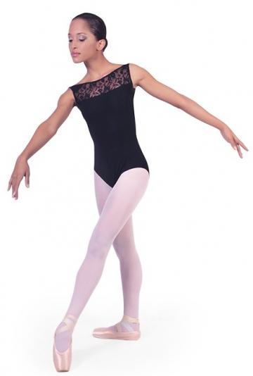 Body tanz mit einsätzen in spitzen-B1002