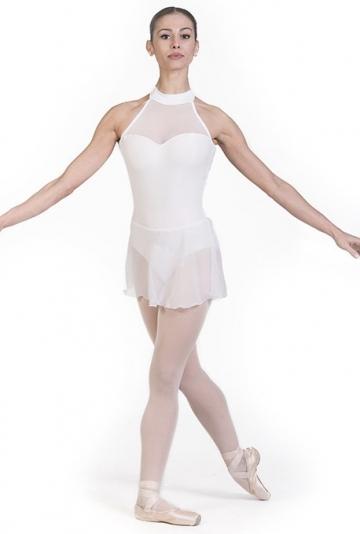 Body-ballett mit chiffon-rock B7017